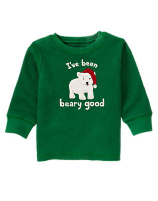 Ivy Green Beary Good Thermal Tee by Gymboree