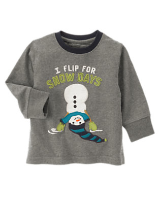 Misty Heather I Flip For Snow Days Tee by Gymboree