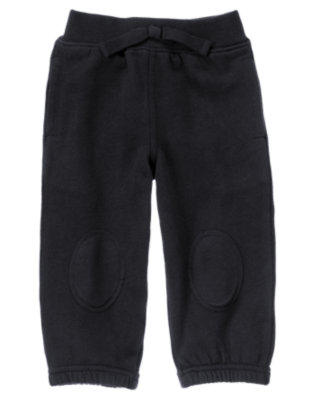 Navy Knee Patch Fleece Active Pant by Gymboree