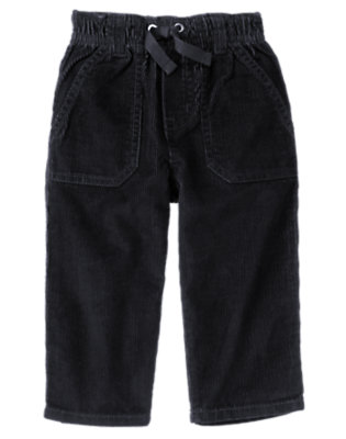 Toddler Boys Navy Pull-On Corduroy Pant by Gymboree