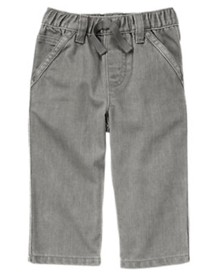 Toddler Boys Denim Pull-On Grey Denim Jean by Gymboree
