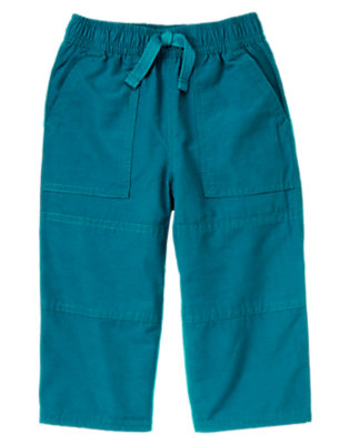 Toddler Boys Teal Blue Microfleece Lined Active Pant by Gymboree