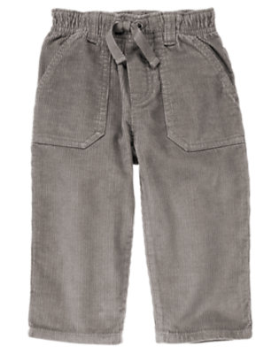 Toddler Boys Asphalt Grey Pull-On Corduroy Pant by Gymboree