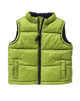 Toddler Boys Moss Green Quilted Puffer Vest by Gymboree