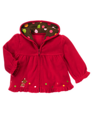 Reindeer Red Reindeer Microfleece Hoodie by Gymboree