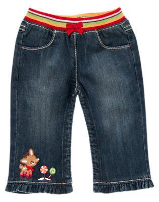 Denim Reindeer Denim Pant by Gymboree