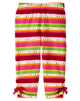 Reindeer Brown Stripe Fair Isle Legging by Gymboree
