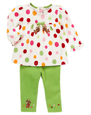 Holiday Green Reindeer Two-Piece Set by Gymboree