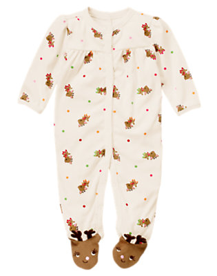 Baby Reindeer Reindeer Footed One-Piece by Gymboree