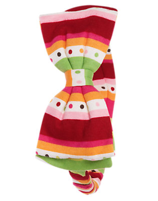 Reindeer Red Stripe Dot Stripe Fruffle by Gymboree