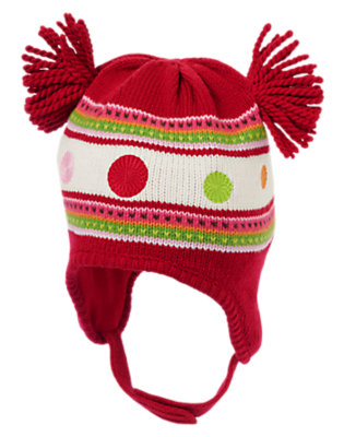 Reindeer Red Dot Stripe Sweater Hat by Gymboree