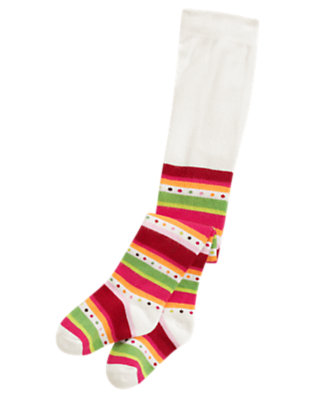 Reindeer Red Stripe Dot Stripe Tight by Gymboree