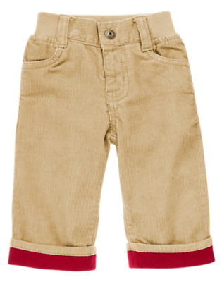 Baby Fawn Cuffed Corduroy Pant by Gymboree