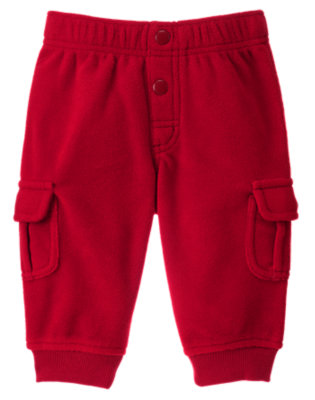 Reindeer Red Microfleece Cargo Pant by Gymboree