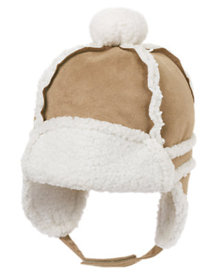 Fawn Brown Faux Suede Earflap Hat by Gymboree