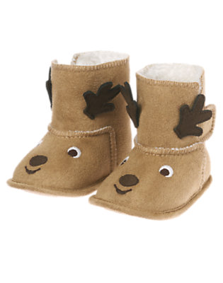 Fawn Brown Reindeer Crib Bootie by Gymboree