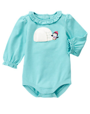 Penguin Blue Penguin Igloo Bodysuit by Gymboree