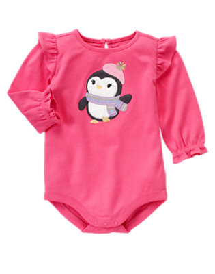 Penguin Pink Penguin Ruffle Bodysuit by Gymboree