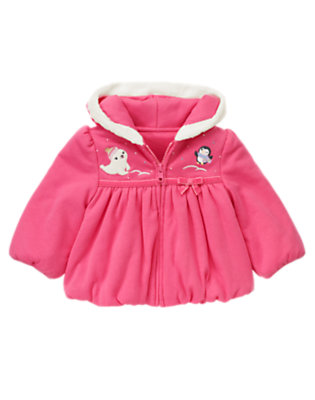 Baby Penguin Pink Penguin Bubble Hoodie by Gymboree