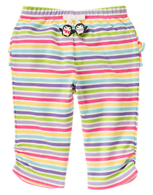 Baby Penguin Pink Stripe Penguin Stripe Knit Pant by Gymboree