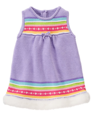 Baby Lavender Fair Isle Sweater Jumper by Gymboree