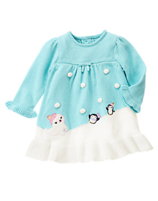 Baby Penguin Blue Penguin Sweater Dress by Gymboree