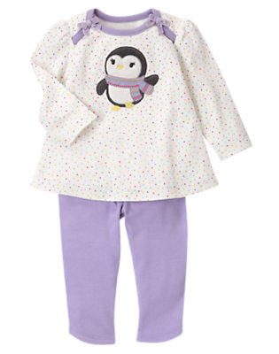 Lavender Dot Penguin Pal Two-Piece Set by Gymboree