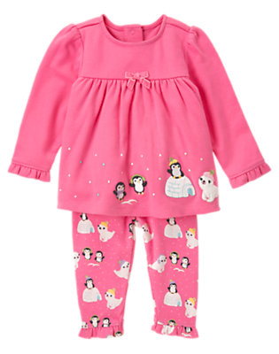 Baby Penguin Pink Penguin Igloo Two-Piece Set by Gymboree