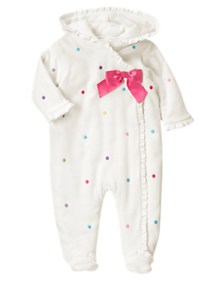 Baby Ivory Dot Dot Padded One-Piece by Gymboree