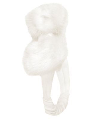 Ivory Faux Fur Fruffle by Gymboree