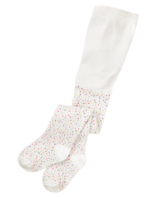 Baby Ivory Dot Dot Ruffle Tight by Gymboree