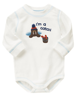 Ivory I'm A Catch Bodysuit by Gymboree