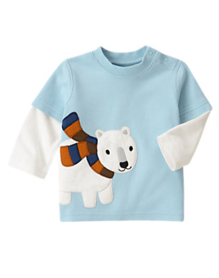 Iceberg Blue Polar Bear Tee by Gymboree