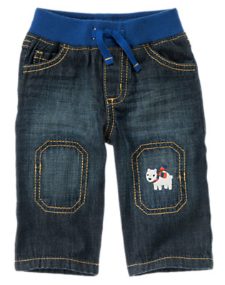 Denim Polar Bear & Walrus Denim Pant by Gymboree