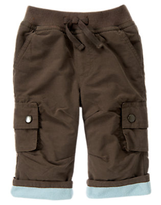 Chocolate Brown Cuff Cargo Active Pant by Gymboree