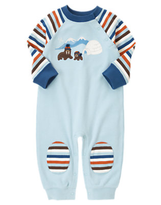 Baby Iceberg Blue Walrus Igloo One-Piece by Gymboree