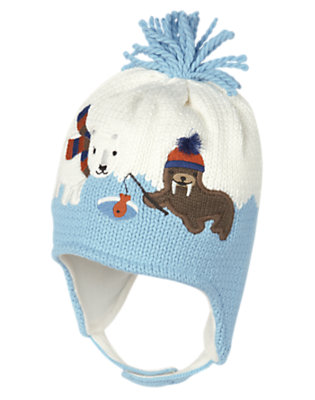 Iceberg Blue Walrus Sweater Hat by Gymboree