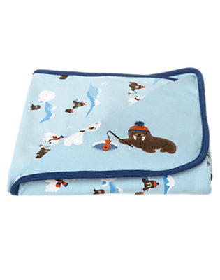 Baby Iceberg Blue Walrus Blanket by Gymboree