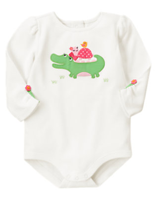 Baby Ivory Alligator Bodysuit by Gymboree