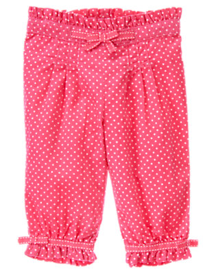 Baby Turtle Pink Dot Dot Corduroy Pant by Gymboree
