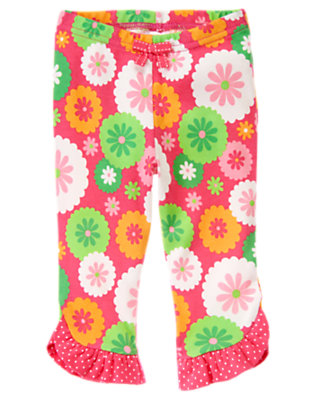 Baby Turtle Pink Floral Flower Dot Pant by Gymboree