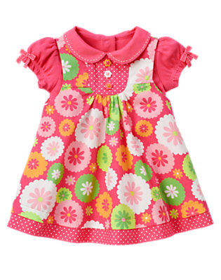 Turtle Pink Floral Flower Dot Jumper Two-Piece Set by Gymboree