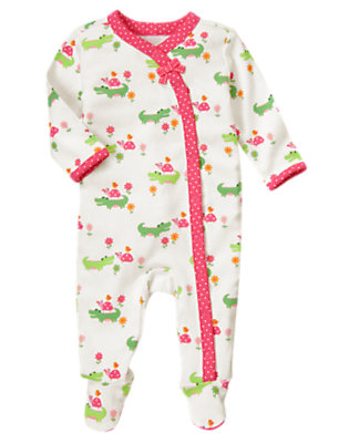 Alligator Alligator Footed One-Piece by Gymboree
