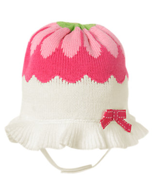 Ivory Flower Sweater Hat by Gymboree