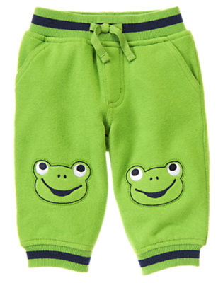 Baby Frog Green Frog Knit Pant by Gymboree
