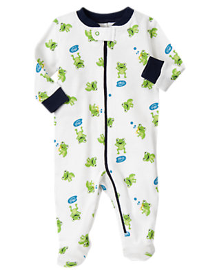 Frog Frog Footed One-Piece by Gymboree