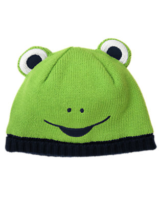 Frog Green Frog Sweater Hat by Gymboree