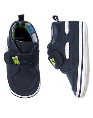 Navy Frog Boat Crib Shoe by Gymboree
