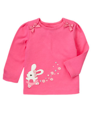 Pirouette Pink Ballerina Bunny Bow Tee by Gymboree