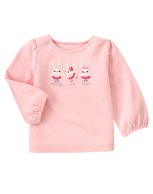 Ballerina Pink Ready Set Twirl Bunny Tee by Gymboree